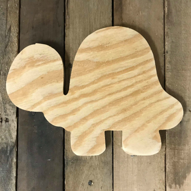 Wooden Pine Cutout, Turtle, Unfinished Wood Shape, DIY Craft