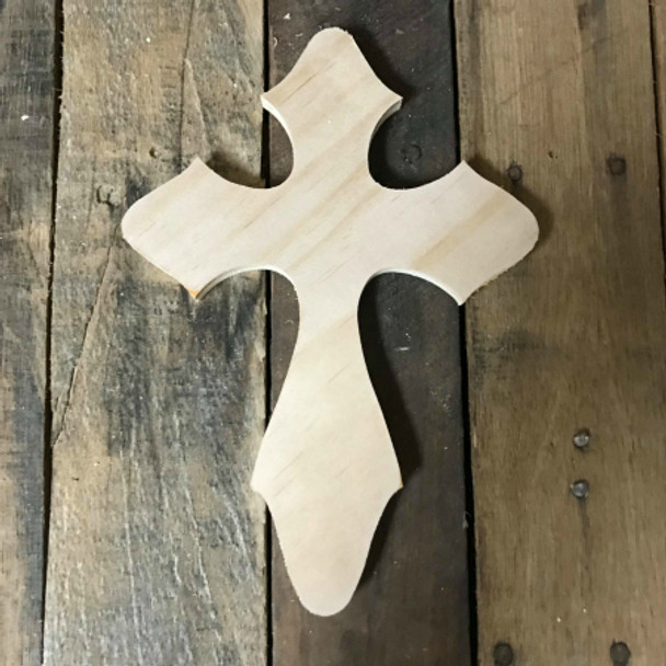 Wood Craft Cross, Unfinished Wooden Wall Cross, DIY Craft Pine (11)