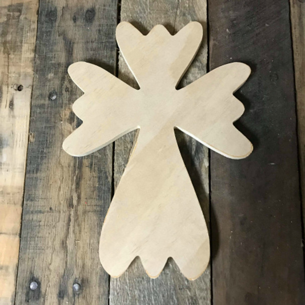 Wood Cross, Unpainted Wooden Wall Craft, VBS Pine (51)