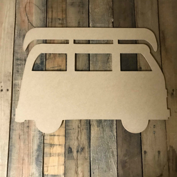 Volkswagen Van With Canoe  Unfinished Wood Shape, DIY Shapes