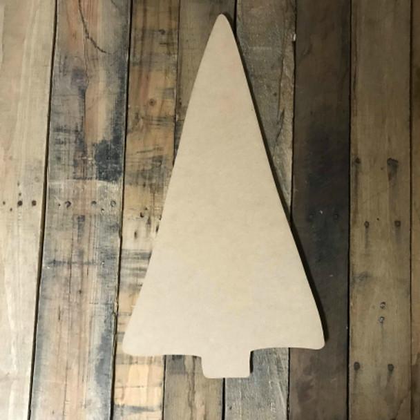 Straight Christmas Tree, Unfinished Wood Shape, Christmas Cutout