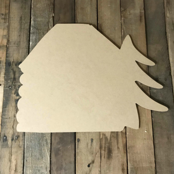 Cabin in Woods, Wooden Cutout, Unfinished Wood Shape