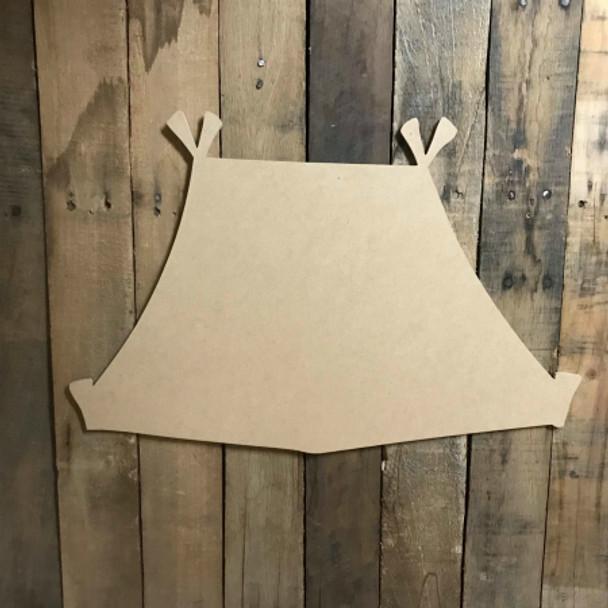 Camping Tent,  Craft Unfinished Wood Shape, Fall Wood Cutout
