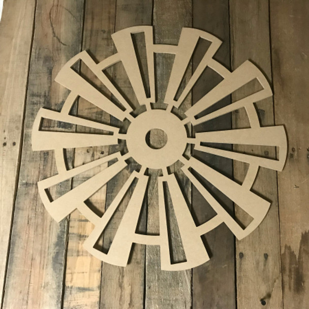Windmill with Cutouts , Craft Unfinished Wood Shape, Wood Cutout