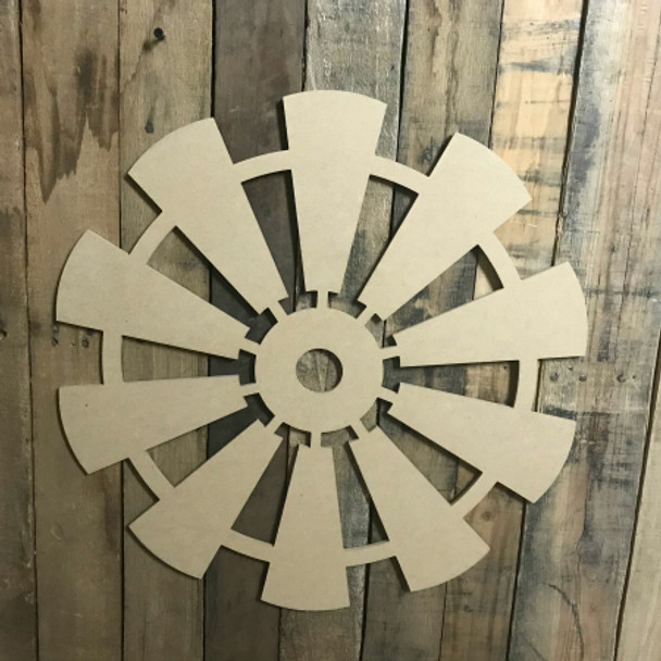 Windmill Shape , Craft Unfinished Wood Shape, Wood Cutout