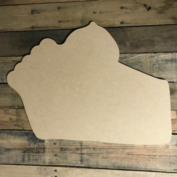 Pumpkin Pie, Craft Unfinished Wood Shape, Wood Cutout