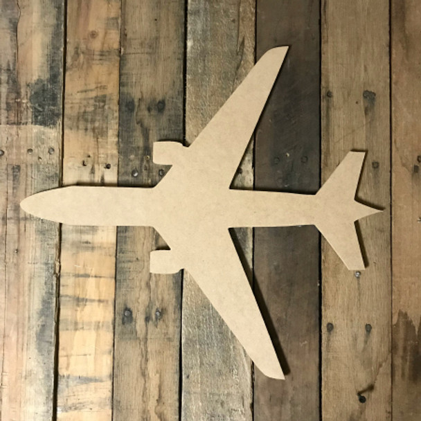 New Airplane, Paint-able Craft Unfinished Wood Shape, Wood Cutout