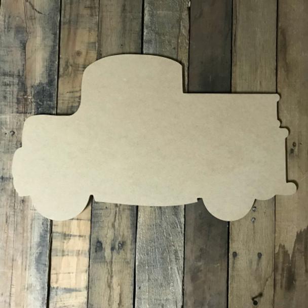 Firetruck, Craft Unfinished Wood Shape, Wood Cutout