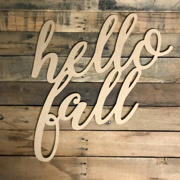 Script Hello Fall, Alphabet Paintable DIY