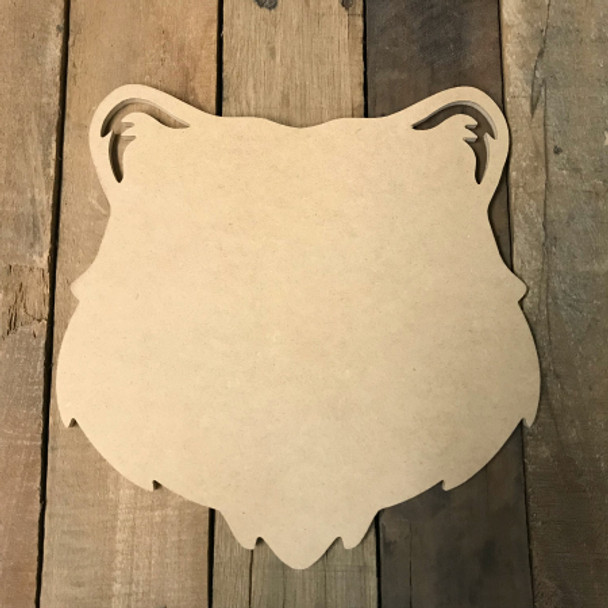 Wooden Tiger head Cutout, Wooden Paintable Shape