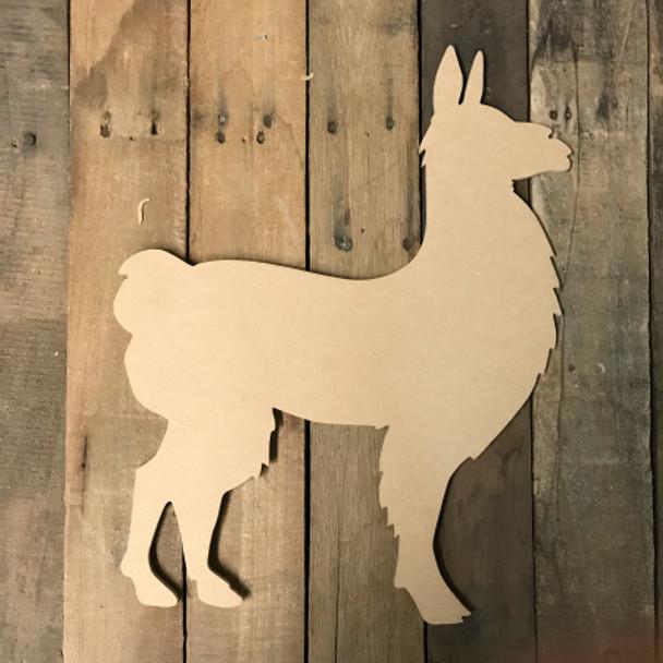 Wooden Llama Cutout, Wooden Llama Paintable Shape