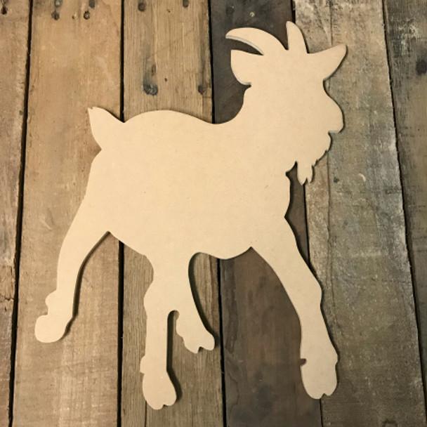 Wood MDF Goat Cutout, Wooden Goat Paintable Shape