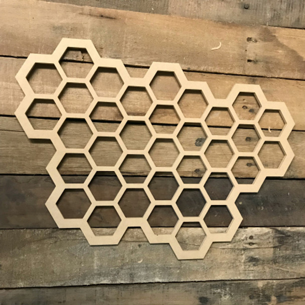 Wooden Honey Comb Cutout, Wood  Cutout