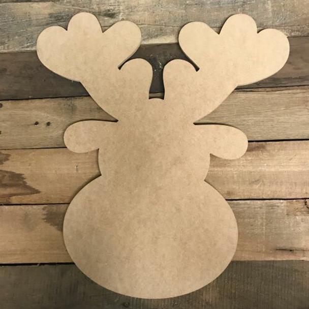Christmas Wooden Reindeer Head