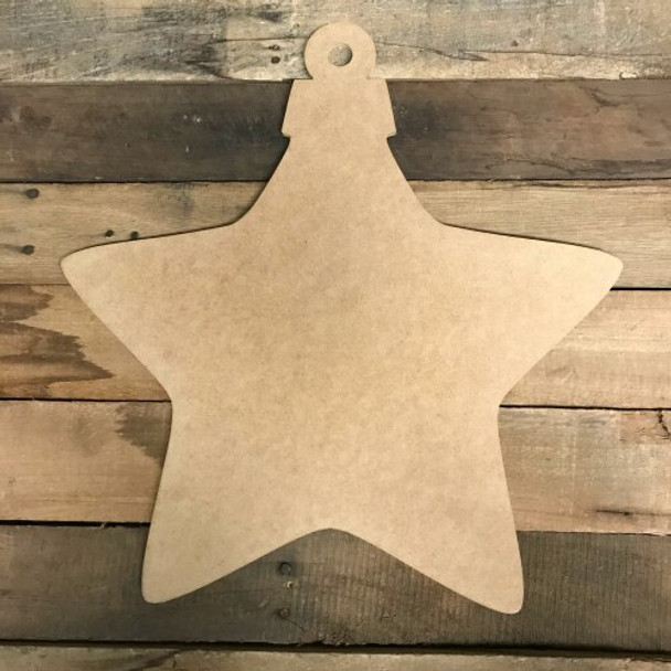 Christmas Wooden Star Ornament