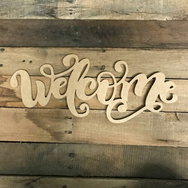 Welcome Alphabet Paintable DIY