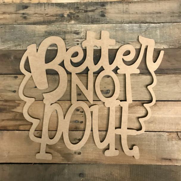 Christmas Word, Better Not Pout, Alphabet Paintable DIY