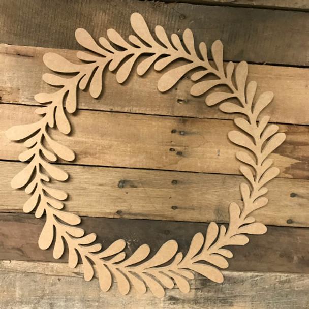 Wooden Wreath Cutout, Wood Wreath Shape, Custom Cutout