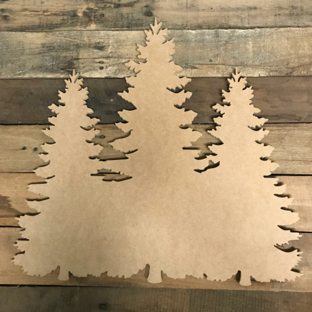 Christmas Trees Cutout, Unfinished Crown Shape, DIY Wood Craft