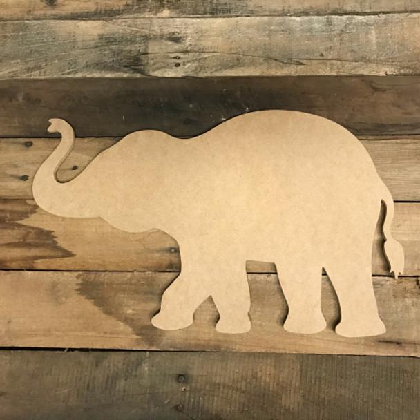Elephant Cutout, Unfinished Elephant Shape, DIY Wood Craft