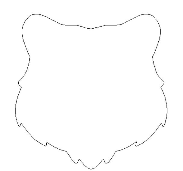 Bear Head Unfinished Cutout, Wooden Shape, MDF DIY Craft