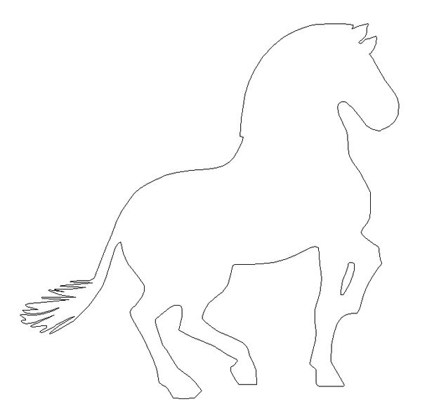 Kids Horse Unfinished Wooden Sport Shape