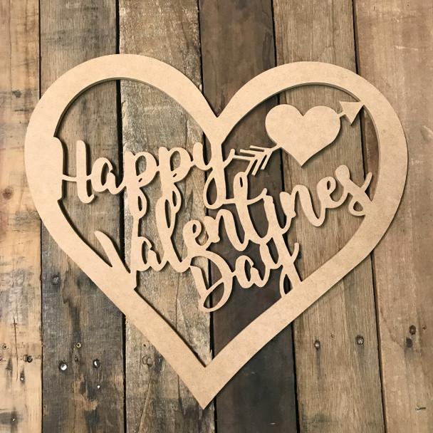 Valentines Day Heart, Frame Wooden - Unfinished  DIY Craft