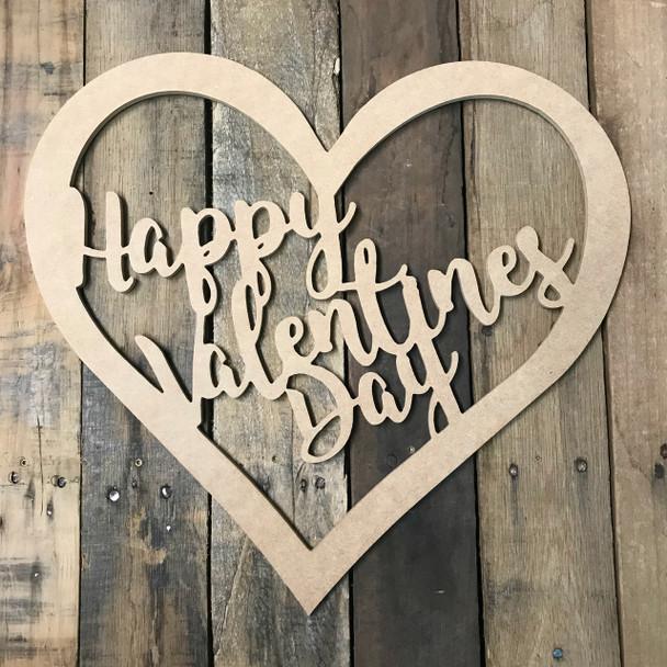 Valentines Day Heart 2, Frame Wooden - Unfinished  DIY Craft