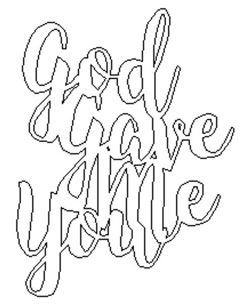 God Gave Me You Unfinished Word Cutout, Wooden Shape, MDF DIY