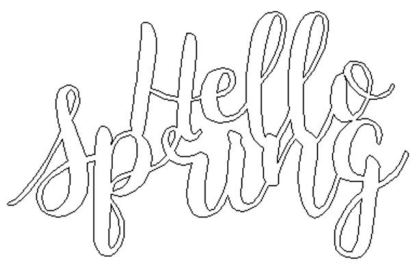 Unfinished Wooden Connected Word, Hello Spring, Alphabet Paintable DIY