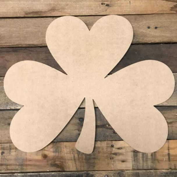 Heart Shamrock 2 Unfinished Cutout