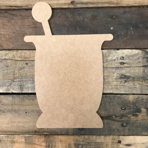 Medicine Mixer, Unfinished Cutout, Craft Wood Shape