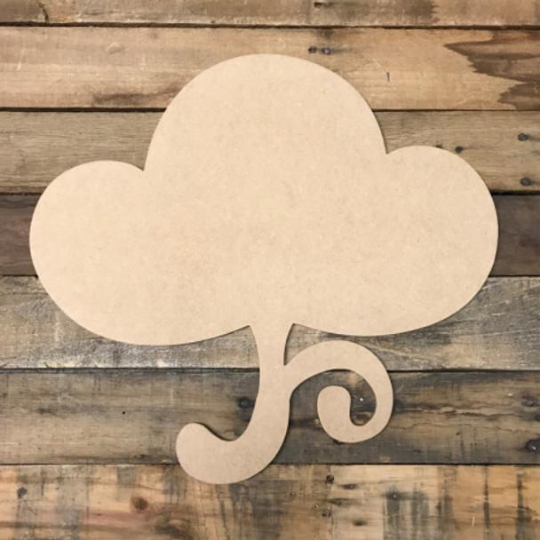 Cotton Cutout, Unfinished Cutout, Craft Wood Shape