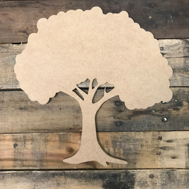 Tree, Unfinished Wooden Cutout Craft