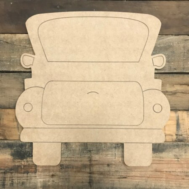 Original Truck Unfinished Wooden Cutout Craft Paint by Line