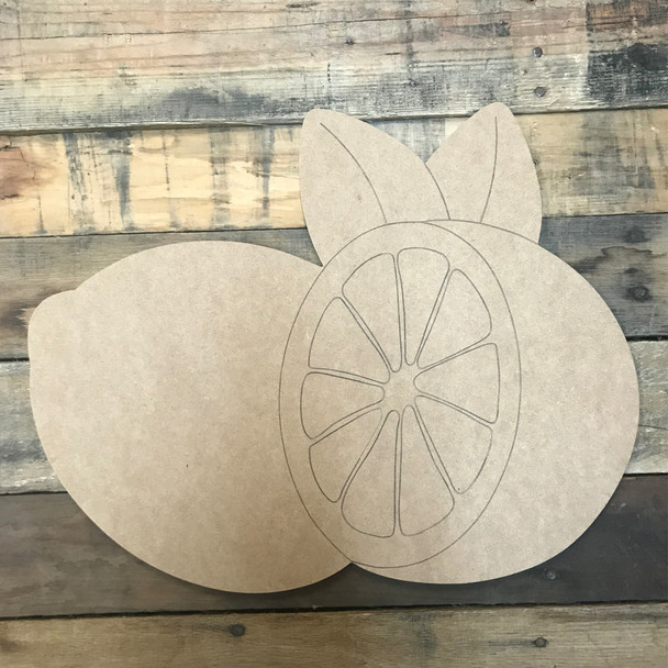 Lemon, Unfinished Wooden Craft, Paint by Line