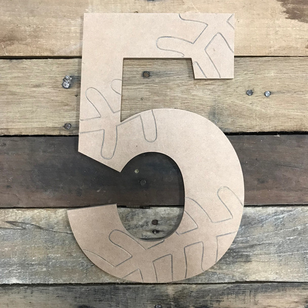 Wood Rockwell Baseball or Softball Numbers, Unfinished Paint by Line