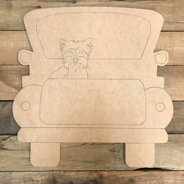 Yorkie Truck, Unfinished Craft, Paint by Line