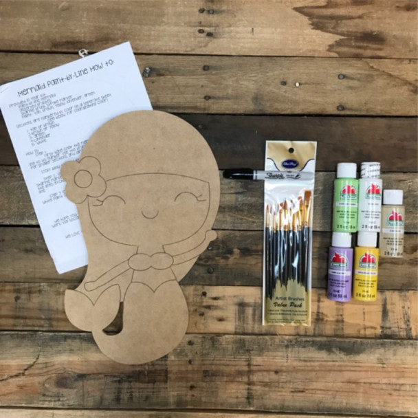 Mermaid Paint Kit, Video Tutorial and Instructions