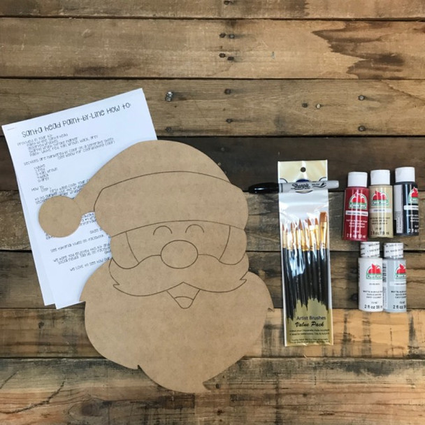 Santa Paint Kit, Video Tutorial and Instructions