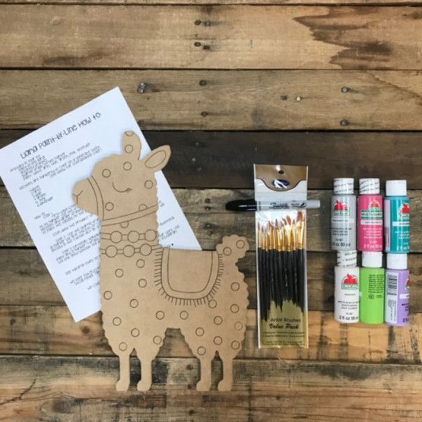Llama Paint Kit, Video Tutorial and Instructions