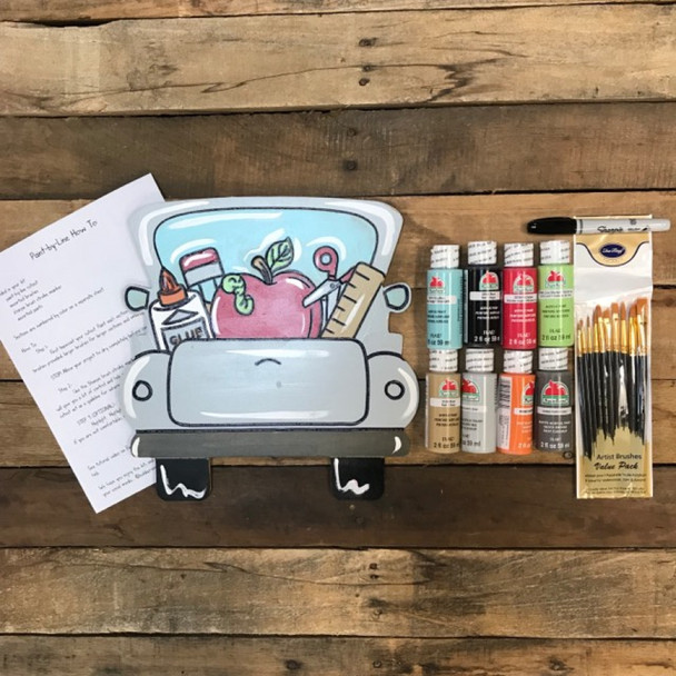 School Truck Paint Kit, Video Tutorial and Instructions