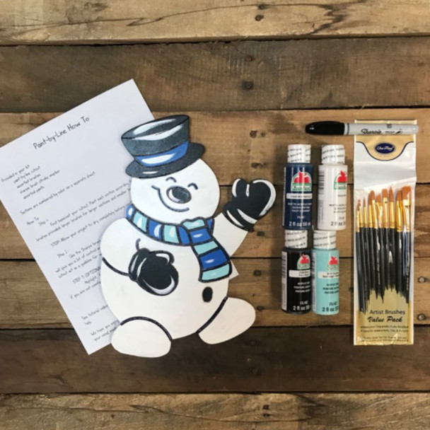 Snowman Christmas Paint Kit, Video Tutorial and Instructions