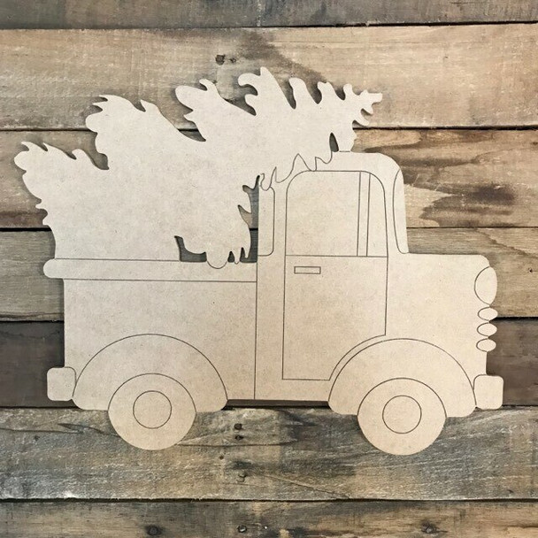 Christmas Tree in Truck Cutout