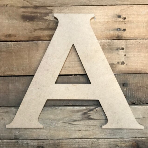 Unfinished Wood Letter Paintable DIY Craft-A