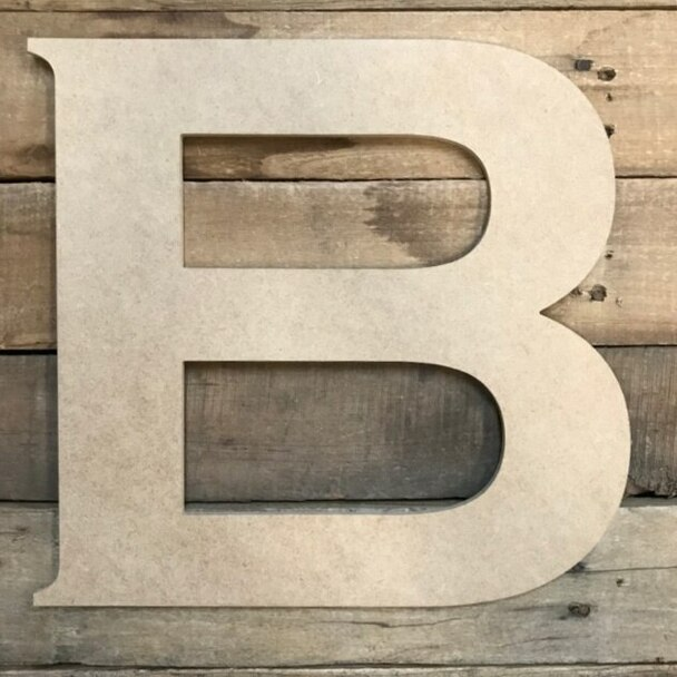 Unfinished Wood Letter Paintable DIY Craft-B