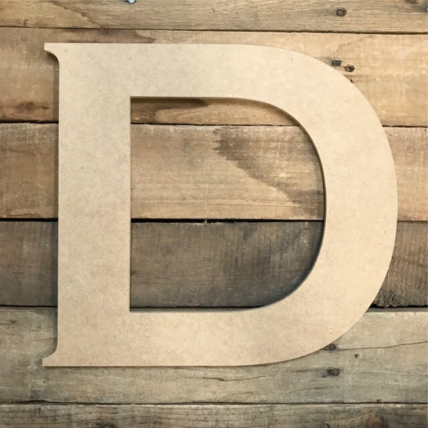 Unfinished Wood Letter Paintable DIY Craft-D