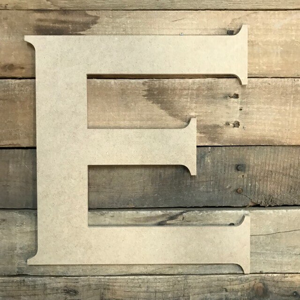 Unfinished Wood Letter Paintable DIY Craft-E