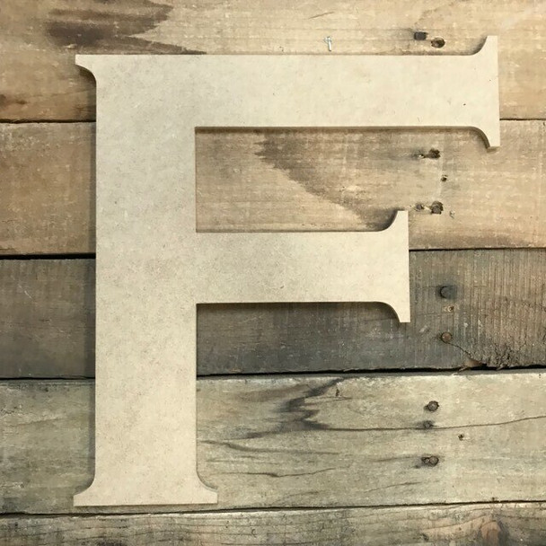 Unfinished Wood Letter Paintable DIY Craft-F