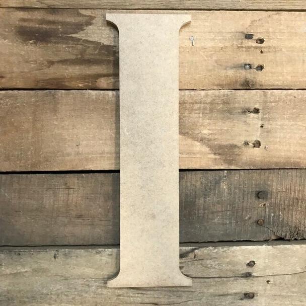 Unfinished Wood Letter Paintable DIY Craft-I